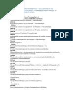 Códigos de Los Procedimientos y Diagnósticos en Fonoaudiología