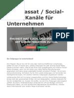 Dirk Massat. Social-Media-Kanäle für Unternehmen