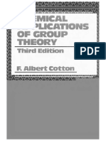 Cotton,Chemical Applications of Group Theory (3rd)