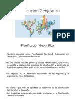 Planificacion geografica