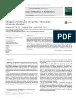Adsorption of Levofloxacin Onto Goethite Effects of PH, Calcium and Phosphate