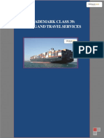 15.Trademark Class 39 Shipping and Travel Services