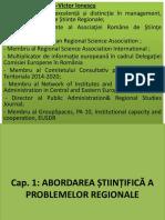 Cap. 1 ABORDAREA ȘTIINȚIFICĂ A PROBLEMELOR REGIONALE