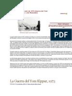 La Guerra Árabe Yom Kippur