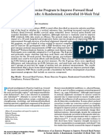 Effectiveness of an Exercise Program to Improve Forehead Posture in Normal Adults