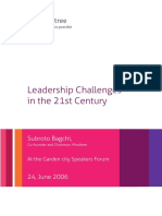 Leadership Challenges in the 21st Century