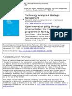 Clausen & Rasmussen (2011) - Open Innovation Policy Through Intermediaries