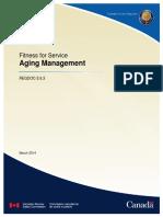 REGDOC 2 6 3 Fitness for Service Aging Management Eng