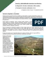 Informe de la Asamblea Regional de Afectados Ambientales Jalisco a la Asamblea Nacional