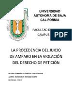 La Procedencia Del Juicio de Amparo en La Violación Del Derecho de Petición