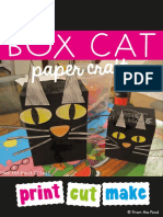 Free Box Cat Art Craft Activity