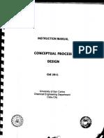 Conceptual Process Design MANUAL