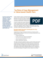 The Role of Case Management in Value-based Health Care