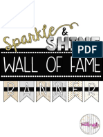 Free Sparkle Shine Wall Off a Me Banner Reading Incentive
