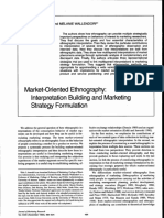 Market Oriented Ethnography