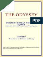 Homer-The Odyssey (Webster's Korean Thesaurus Edition) (2006)