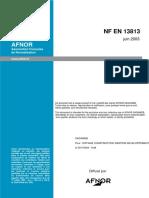 NF en 13813 - Chape - Matériaux