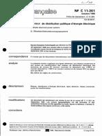 NF C 11-201 - Electricité -Distribution 1
