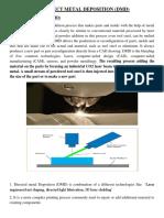 Direct Metal Deposition (DMD)