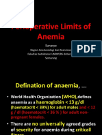 Perioperative Limits of Anemia