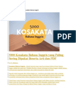 5000 Kosakata Bahasa Inggris yang Paling Sering Dipakai Beserta Arti dan PDF
