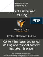 Content Dethroned as King
