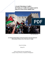 Colin McClellan Senior Honors Thesis Israeli Palestinian Conflict