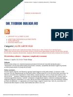 Diverticuloza Colonica - Simptome, Complicatii, Tratament _ Dr. Teodor Buliga