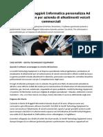 Case Study Maggioli Informatica Personalizza Ad Hoc Revolution Per Azienda Di Allestimenti Veicoli Commerciali