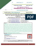 QUALITATIVE ANALYSIS AND α-AMYLASE INHIBITION ASSAY OF AQUEOUS FOLIAR EXTRACT OF SYZYGIUM CUMINI (L.)