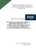 Redes neuronales y fotovoltaica
