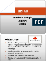 First Aid (CPR AND CHOKING)