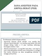 Tatalaksana Anestesi Pada Preeklampsia Berat (Peb)