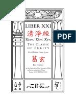 Liber XXI - Kh'ing K'ăng K'ing (淸淨經), the Classic of Purity