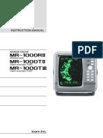 Icom  Radar Manual MR-1000R2 T2 T3