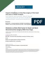 Diabetes Head and Neck Surgery