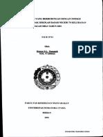 123dok Analisa Faktor Yang Berhubungan Dengan Infeksi Kecacingan Pada Anak Sekolah Dasar Negeri 70 Kelurahan Bagan Deli Tahun 2001