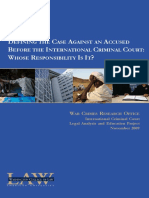 Defining the Case Against an Accused Before the International Criminal Court - Whose Responsibility is It