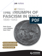 My Revision Notes Edexcel as History the Triumph of Fascism in Italy, 1896-1943