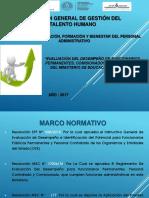 Presentacion Segundo Año de Aplicacion Eval Desempeño 2017