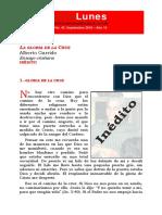 La Gloria de La Cruz. Alberto Garrido Dossier
