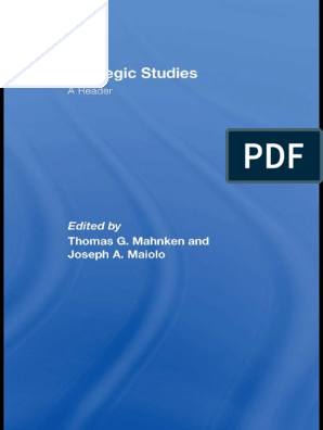 Strategic-Studies-A-Reader pdf | Military Strategy
