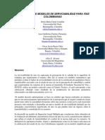 Desarrollo de Modelos de Serviciabilidad