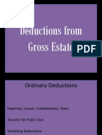 Deductions from Gross Estate - Philippines