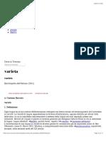 """G. Berruto, Varietà in """"Enciclopedia Dell'Italiano"""""""
