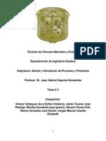 Tarea 2. Diseño y Simulacion de Procesos y Productos