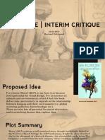 Premise   Interim Critique