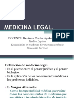 Medicina Legal Introducción 2017