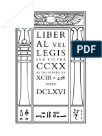 Liber AL vel Legis sub figurâ CCXX as delivered by XCIII = 418 unto DCLXVI