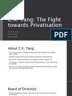 Studi Kasus C K Tang Singapore - Corporate Governance
